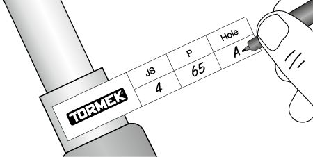 Tormek labels for bowl gouges