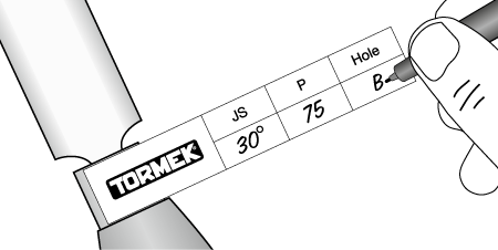 Tormek labels for skew chisels