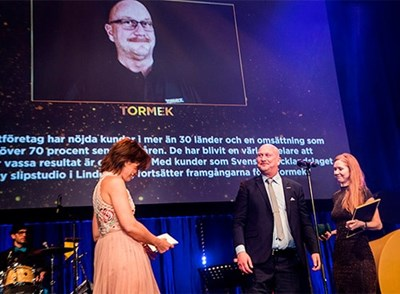 Tormek awarded Export Company of The Year in Örebro County