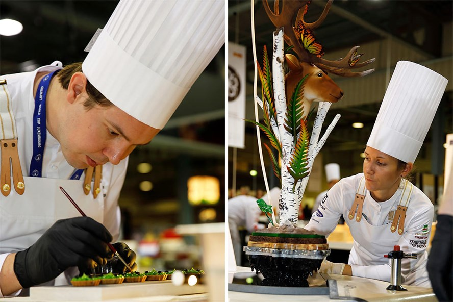 Jimmi Eriksson and Frida Bräcke from the Swedish Culinary Team.
